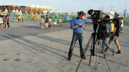 Laatste nieuws checken op het Olympisch park Rio2016
