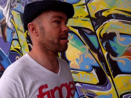 De Nederlandse straatkunstenaar 'Karski'