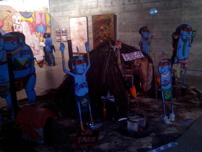 Installatie van karton op de Biennale