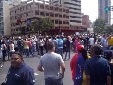 Spontane demonstratie van de oppositie tegen de overwinning van Maduro