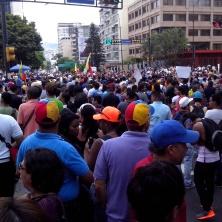 Demonstratie van de oppositie tegen de verkiezingsuitslag