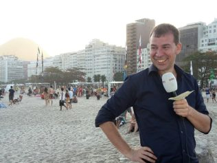 Copacabana, live bij begin OS2016